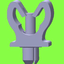 Support 1 tube A Riveter - Drive Rivet Clips For 1 Tube