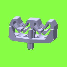 Support 2 ou 3 Tubes A Riveter - Drive Rivet Clips For 2 or 3 Tubes
