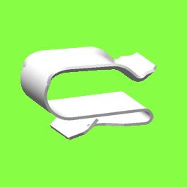 Clip Métal 2 Tubes - Metal Edge Clips For 2 Tubes