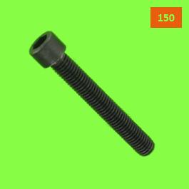 Cylindriskt huvud med sexkantshål Din 912 gängning på 150