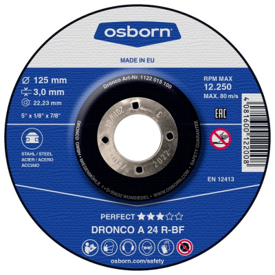 DISQUE A TRONCONNER DEPORTE 125X3.0X22.2 A24R PERFECT 1122-015.100